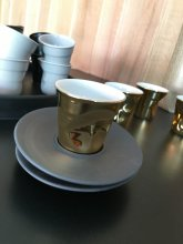 ESPRESSO CRUMPLE CUP-  REAL GOLD