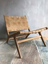 STRAP CHAIR- Light Brown Suede