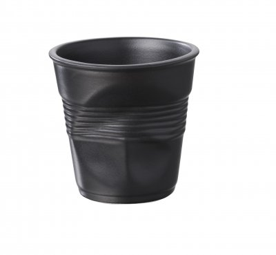ESPRESSO CRUMPLE CUP- SATIN BLACK