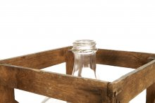 GLASS JARS IN A BOX