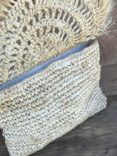 Clutch bag of palm leaves