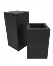 BLACK SQUARE BOX HIGH SMALL - LARGE
